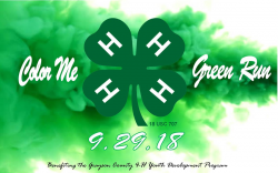 grayson county 4 h color me green 4k 1 mile fun run registration